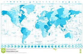 Map Of Time Zones by World Map With Standard Time Zones Soft Tints Of Blue And Clock