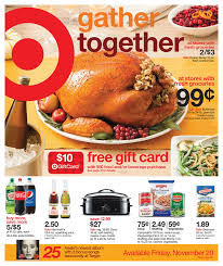 target thanksgiving food weekly ad prices nov 15 2015