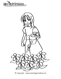 gardening coloring page printable coloring pages for girls