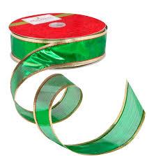 spools of ribbon 100 ft green ribbon spool joann