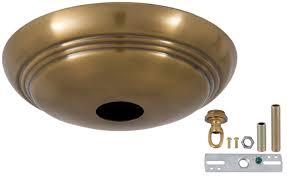3 light canopy kit antique brass solid spun brass ribbed canopy kits 11734a b p l