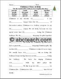 free worksheets christmas printables for teachers free math