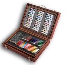 professional watercolor color paint set wooden artist box for