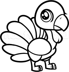 simple drawing of a turkey how to draw a chibi turkey for kids