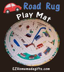 road rug play mat made out of a tablecloth ez homemade gifts