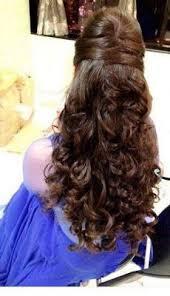 Dressy Hairstyles Indian Bride U0027s Engagement Hairstyle By Swank Studio Curls Braids