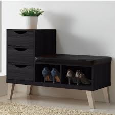 Hallway Shoe Storage Bench Splendent Arielle Brown Shoe Storage Bench Baxton Studio Arielle