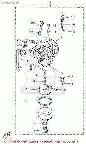 yamaha et340tk enticer 1984 1986 carburetor schematic partsfiche