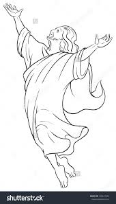 jesus ascension coloring page jesus christ ascension coloring page