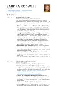 public relations assistant resume samples visualcv resume