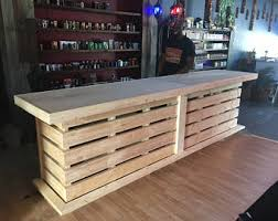 Industrial Style Reception Desk The Anthem 8 U0027 Industrial Rustic Pallet Wall Look Two