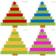 diy christmas card 02 choinka drzewko bożonarodzeniowe
