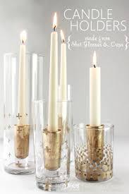 remodelaholic diy gold leaf candle holders
