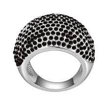 crystal pave rings images Hot sale original swarovski elements crystal pave rings for women jpg