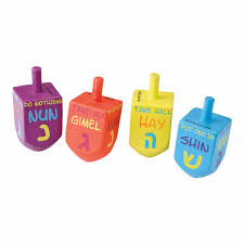 Chanukah Gifts Chanukah Gifts Large Sized Painted Wood Dreidels With English