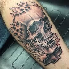 depiction tattoo gallery tattoos john clark rod skull