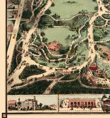 Map Central Park Central Park New York In 1860 Bird U0027s Eye View Aerial Panorama