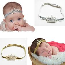 beaded headbands pretty baby crown band infant new born floral beaded