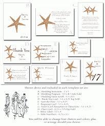 Beach Wedding Program Templates Free Printable Beach Wedding Invitations Wedding Invitation Sample