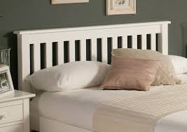 White Wooden Headboard White Wooden Headboard Added By Shabby Pink And White Pillows On