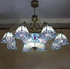 Stained Glass Light Fixtures Dining Room European Style Stained Glass Light Artistic Pastoral Font B