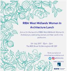 riba west midlands women in architecture lunch tickets wed 5