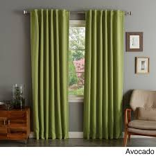 solid insulated thermal blackout curtain panel pair free