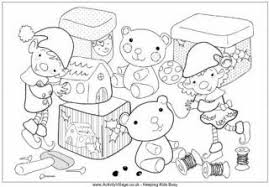 christmas elf colouring page