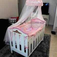 chambre bébé casablanca lit à barreaux tendresse en bois tour de lit