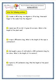 grade 3 maths worksheets 11 9 word problems on meters and