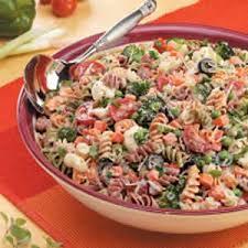 creamy pasta salad recipe creamy italian spiral salad recipe taste of home