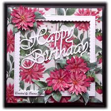 trenouth u0027s crafty creations floral acetate birthday card