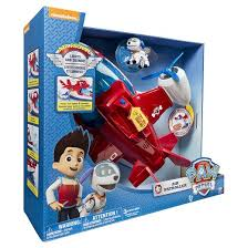 paw patrol lights sounds air patroller plane target