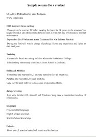Sample Resume Of Student by Sample Resume For A Student Or A 16 Year Old Student Http