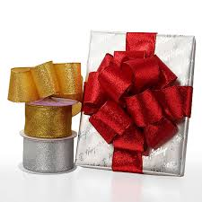 wide ribbon wide wired metallic ribbons