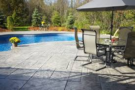 paint for patio how to resurface a concrete patio with rubber paint hunker