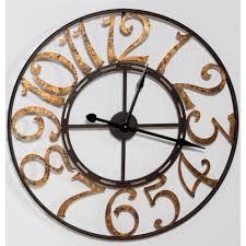 wonderful decoration metal wall clock large looking decorative