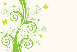 stem with swirls and flowers outline with butterflies vector
