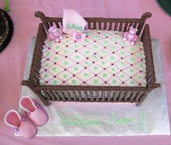unique baby shower cakes baby shower crib cake frazi s cakes