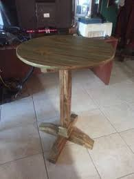 reclaimed wood pub table sets furniture old rustic small high round top kitchen table and chair