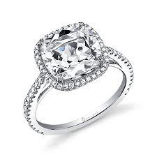 engagement rings cushion cut angelika cushion cut engagement ring with halo sy395 sylvie