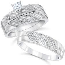wedding trio sets wedding ideas wedding band trio sets ideas his and hers ring set
