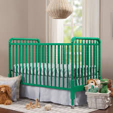 3 In 1 Convertible Cribs by Davinci Jenny Lind Stationary 3 In 1 Convertible Crib Emerald