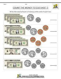 2nd grade math worksheets money free counting money worksheets
