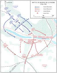 Battle Of New Orleans Civil War Map by Palo Alto And Resaca De La Palma