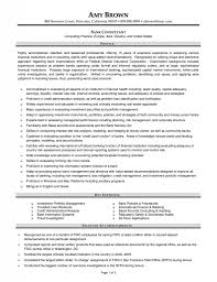 Sample Resume For Finance Sample Banking Resume