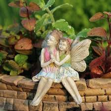 statue for garden miniature sitting fairies garden statue