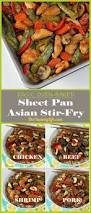 easy oven baked sheet pan asian stir fry