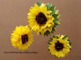 Yellow Pom Pom Flowers - tissue paper pom pom sunflowers perfect decorations for