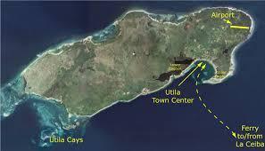 Map Of Islands Off The Coast Of Florida by Travel To Utila Tropical Island Utila Bay Islands Honduras